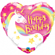 "Birthday Unicorn Foil Balloon (9"" Air-Fill) 1pc"